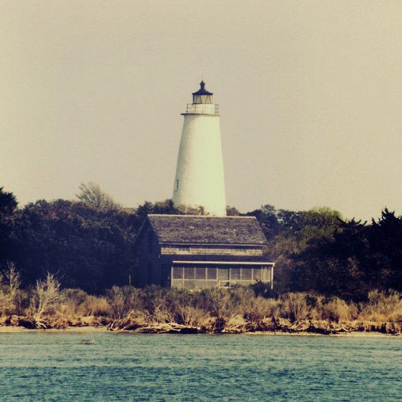Ocracoke Lighthouse Print  Outer Banks North Carolina Beach  image 0