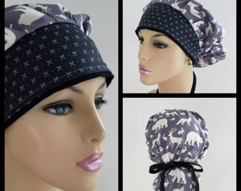 3b1cd94ec97 Bouffant Cap/Medical Cap/Surgical Scrub Hat - Polar Bears - Arrows - 100 %  Cotton