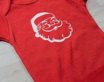 Santa Claus Baby One Piece Clothing Cotton Baby Clothes | Christmas Baby | Bodysuit | Red |
