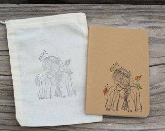 Autumn Hipster Girl Journal Diary Planner Notebook