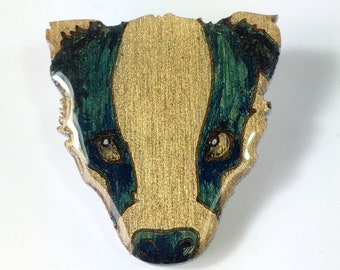 Hand-painted Badger Badge