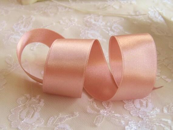 Rose Gold Ribbon Double Sided Luxurious Quality Satin Rose Etsy