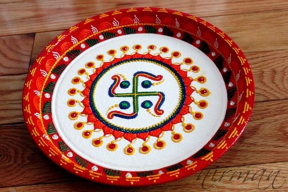 Swastika pooja thali decorative henna mehndi design junglespirit Gallery