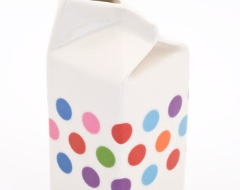 Polkadot Milk Carton Jug