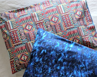 Ancient Corn Maze Pillowcase Set - Night Sky - Reversible! - Standard Size - Cotton - 20 x 30""