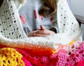 Unicorn hooded blanket crochet pattern, Unicorn amigurumi flowers hooded blanket crochet pattern (271) INSTANT DOWNLOAD