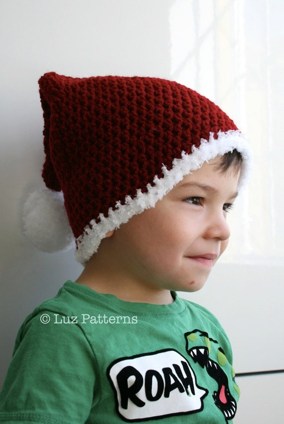 59cfad66cc9 Crochet Christmas pattern Santa hat pattern Father Christmas