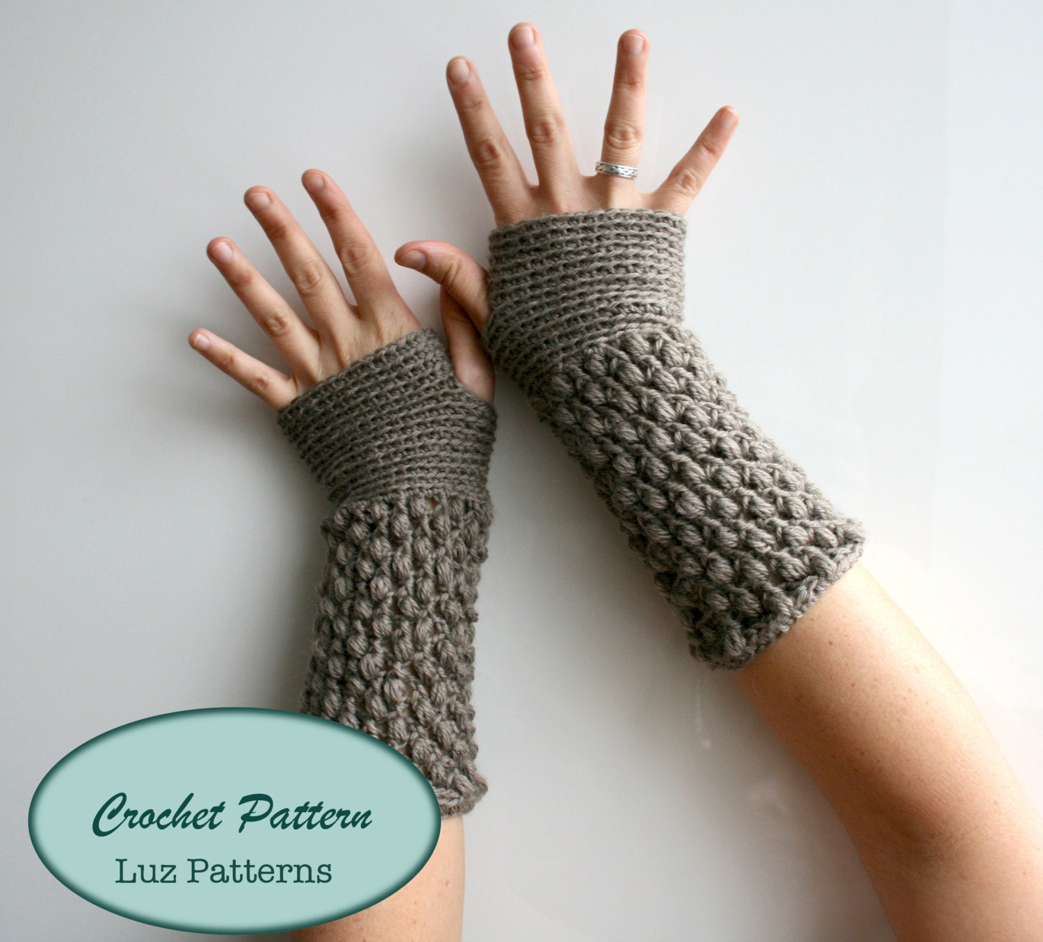 Crochet Patterns Girl And Women Fingerless Glove Pattern Etsy