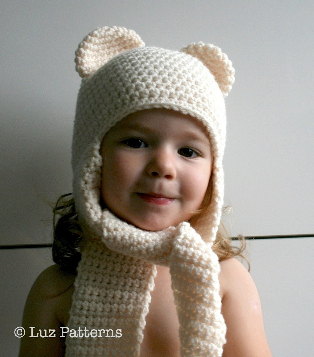 Crochet Pattern Instant Download Crochet Baby Bear Hat Etsy