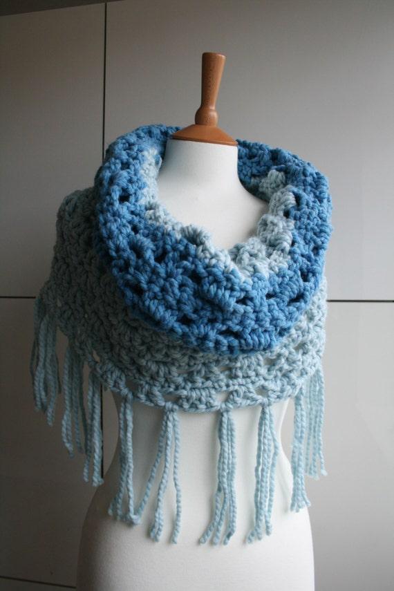 Crochet Pattern Super Chunky Cowl Crochet Pattern Easy Etsy