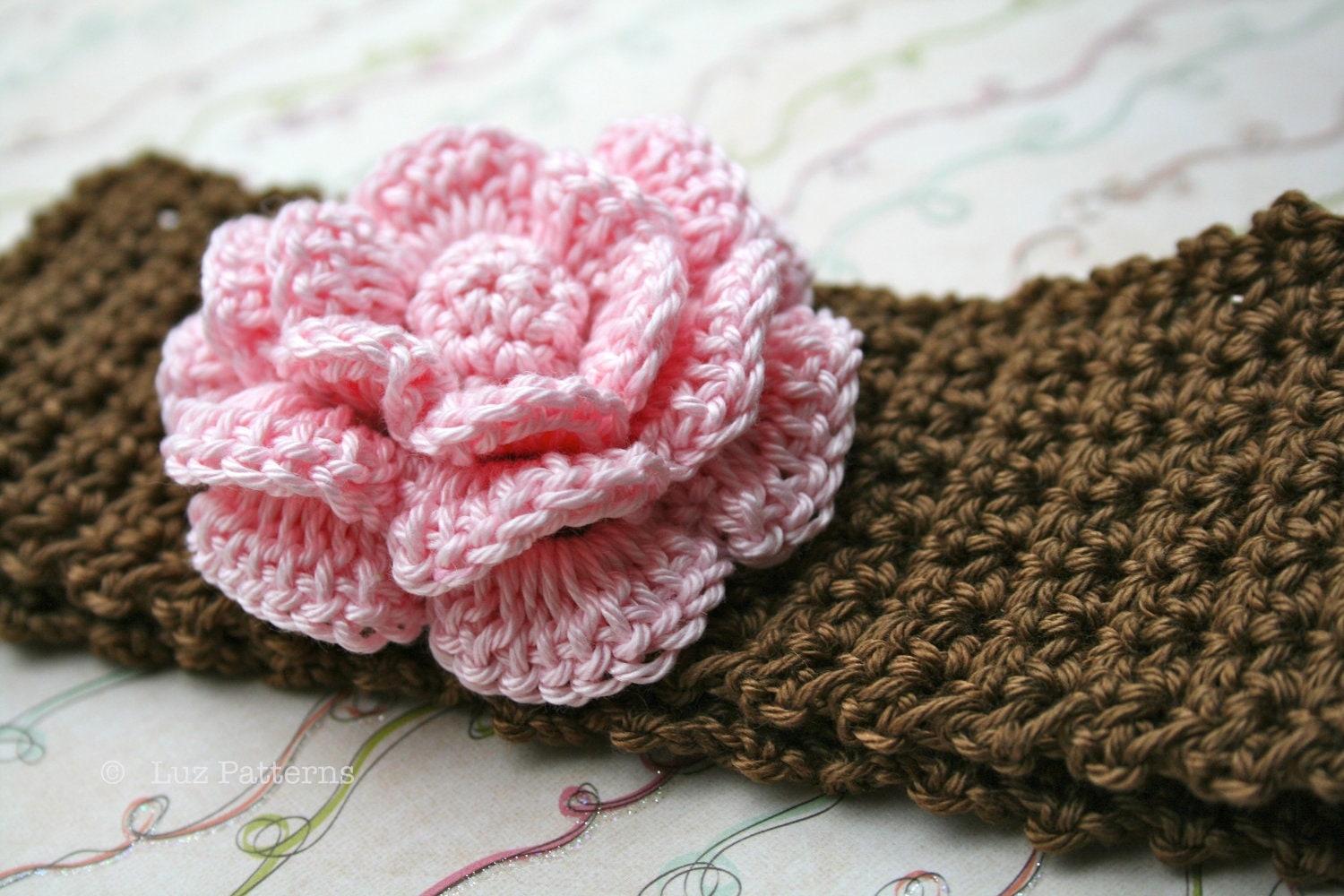 Crochet patterns baby headband pattern INSTANT DOWNLOAD  76c157ef887