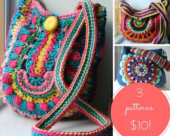 Crochet Patterns 3 Crochet Purse Patterns Sale Crochet Etsy