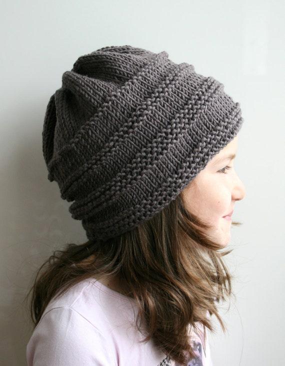 Knitting Pattern Oversized Slouchy Hat Knitting Pattern 08 Etsy