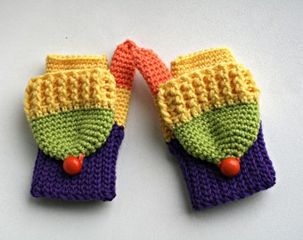Crochet pattern, crochet fingerless mittens, crochet mittens pattern three sizes (158)