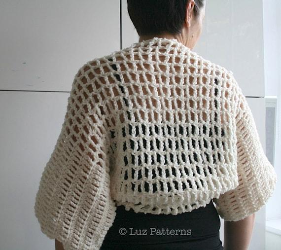 Crochet Pattern Vintage Shrug Crochet Pattern Vintage Women Etsy