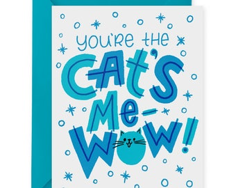 Cat's Me-Wow A2 Greeting Card