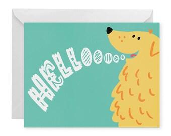 Helloooo A2 Greeting Card
