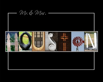 Letter Art Word Alphabet Photos Photography Prints Personalized Name Signs Custom Wedding Anniversary Christmas Birthday Gifts