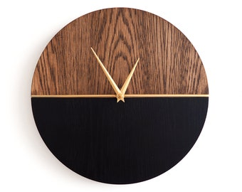 Modern Wood Wall Clock, Wall Clock, Wood Clock, Home Decor, Wood Decor, Gift Idea, Ready to Ship