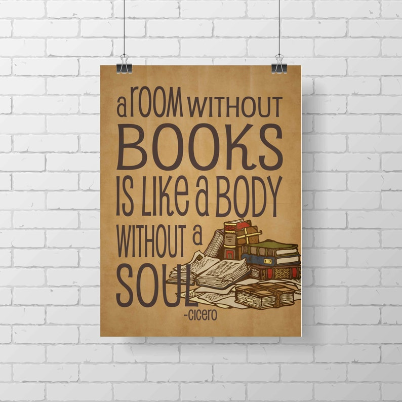 Printable Reading Library Print A room without books is like image 0