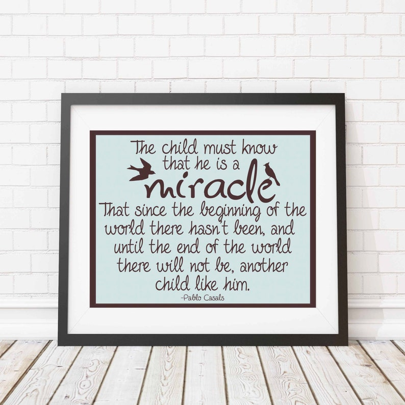 Printable Nursery art  Nursery quote print  The child is a image 0
