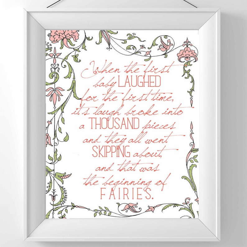 Printable Peter Pan Nursery Decor  When the first baby image 0