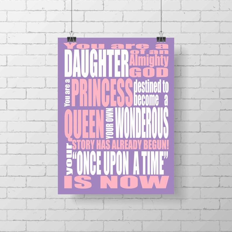 Princess Print  You are a Princess  Once Upon A Time  image 0