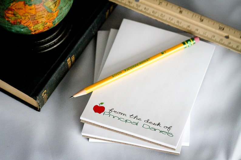 Set of 4 Personalized Teacher Notepad  From the Desk of  image 0