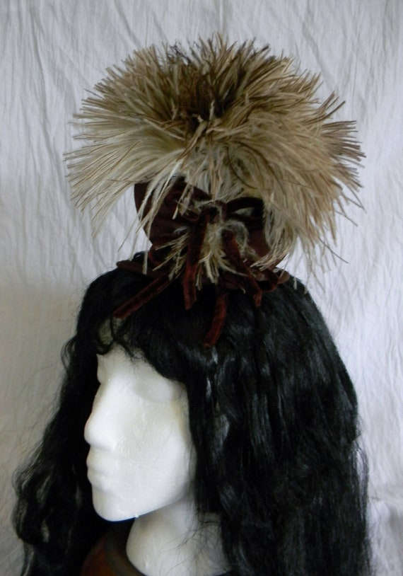 1940's woman's hat with ostrich feathers