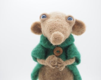 Alfie, OOAK original needle felted sculpture of a mouse