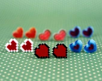 Legend of Zelda Heart Container Stud Earrings