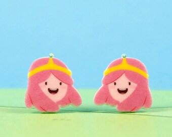 Adventure Time Earrings Princess Bubblegum