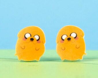 Adventure Time Earrings Jake the Dog: Cute Bean Version!