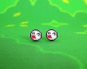 Super Mario World Boo Earrings