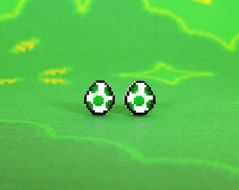 Super Mario World Yoshi Egg Earrings