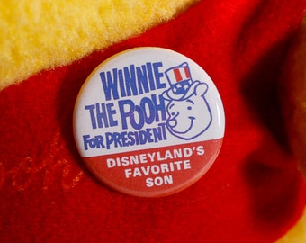 "Winnie the Pooh for President Vintage Reproduction 1.25"" Button"