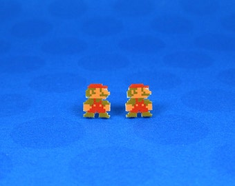 Super Mario 8-bit Earrings