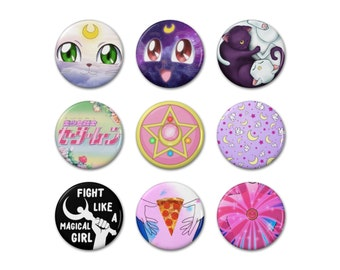 """Sailor Moon Inspired 1.25"""" Buttons"""