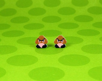 Super Mario Goomba Earrings