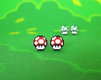 Super Mario World Mushroom Earrings in Two Flavors