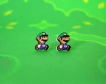 Super Mario World Luigi Earrings
