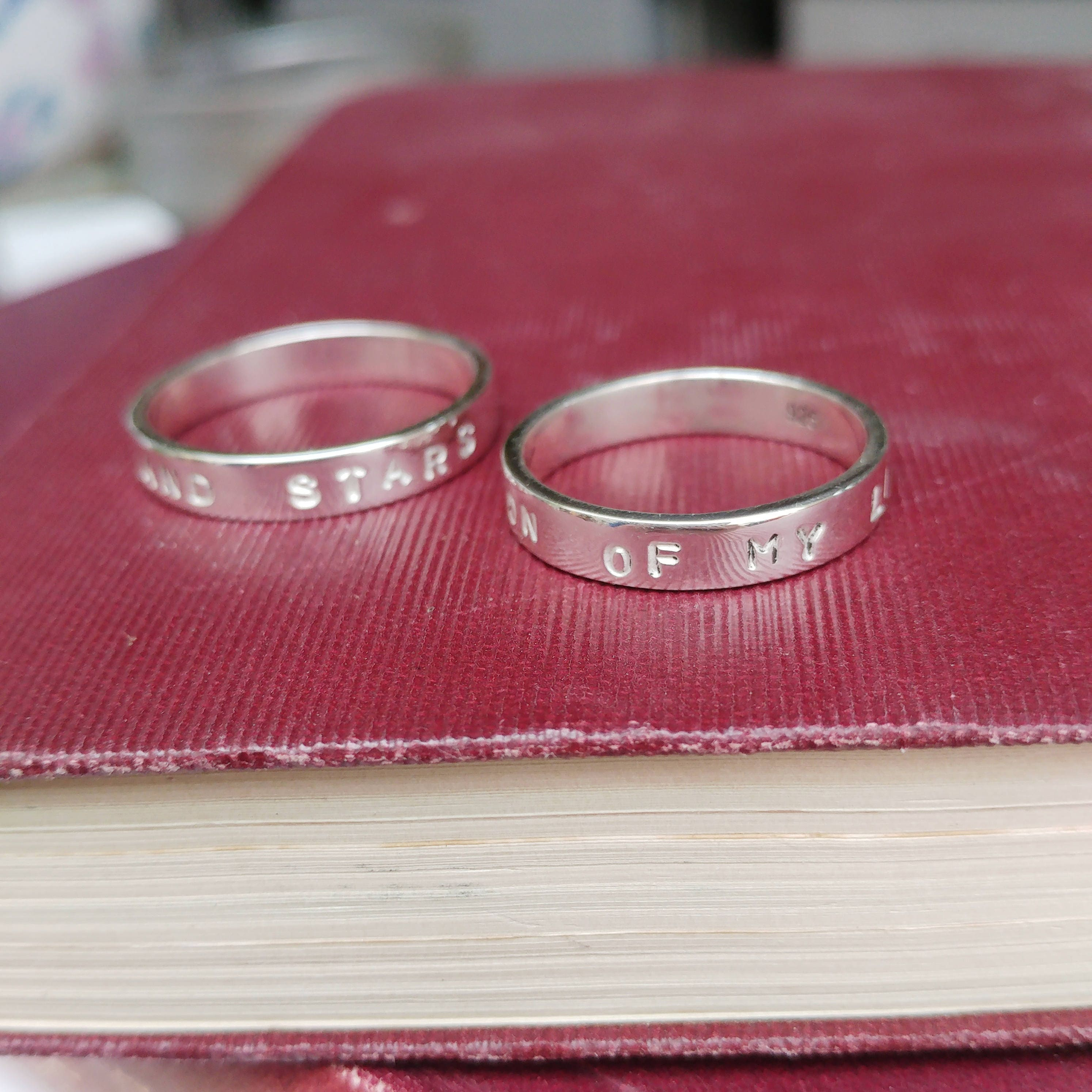 Sterling Silver Game Of Thrones Inspired Matching Couples Rings ...