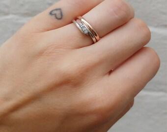 9ct Rose Gold Court Profile Ring - Wedding Band, Ladies, Polished