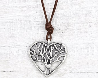Wisdom in Your Heart Necklace - Tree of Life Jewelry - Tree of Life Necklace- Branch Jewelry - N727