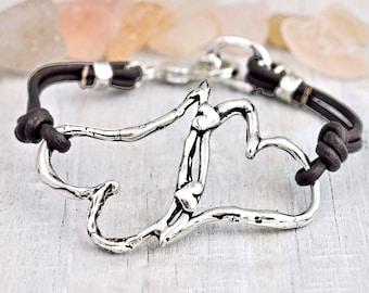 Hearts Entwined - Heart Bracelet - Inspirational Jewelry - Heart Jewelry - Romantic Jewelry - B430
