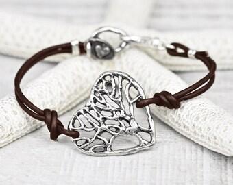 Wisdom In Your Heart Bracelet - Tree Jewelry - Tree of Life Bracelet - Branch Jewelry - B491