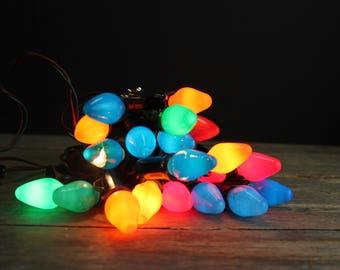 3 vintage christmas light strands and bulbs c 7 christmas light strands 3 strands 21 working lights vintage christmas