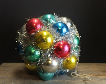 Vintage Fun Christmas Kissing Ball // Ornaments and Tinsel // Multicolored Ornaments