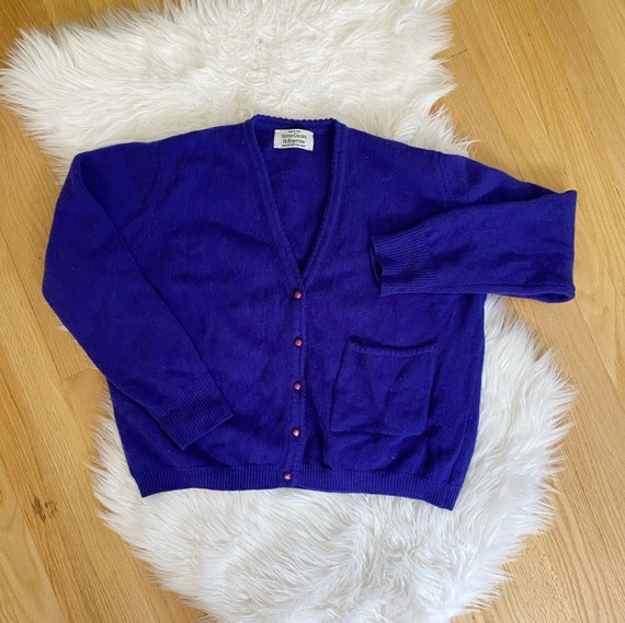 Vintage 1990s United Colors of Benetton Wool Blue… - image 2
