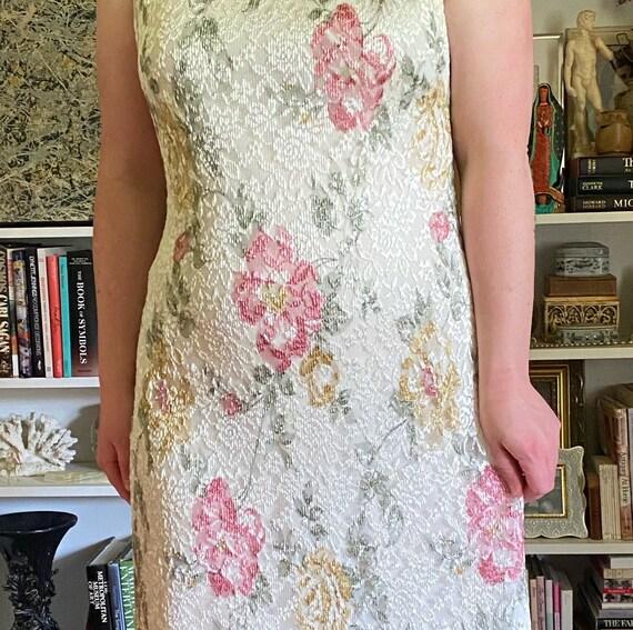 Vintage 1990s White Floral Maxi Dress - image 3